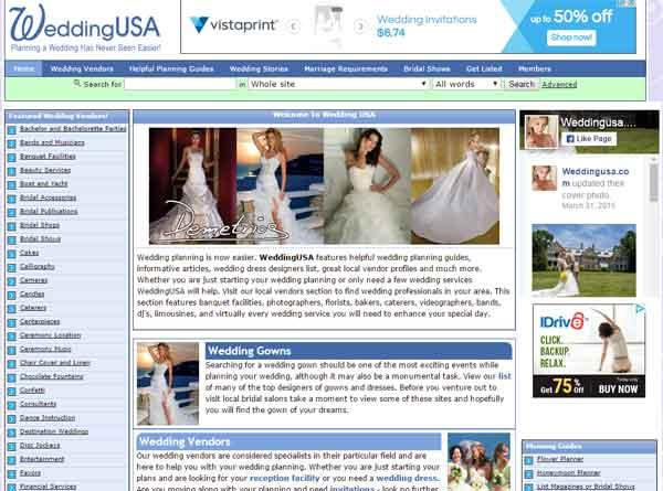 WeddingUSA website designed by Cranston ri web designer stant design